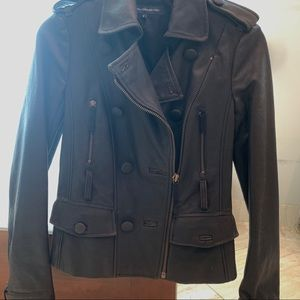 French Connection Vegan Biker Leather Jacket